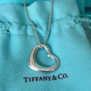 Tiffany & Co. Silver Medium Elsa Peretti Necklace